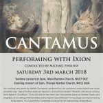 Cantamus CoMA Concert March 3rd 2018